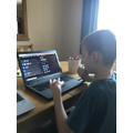 My son Oliver doing some coding