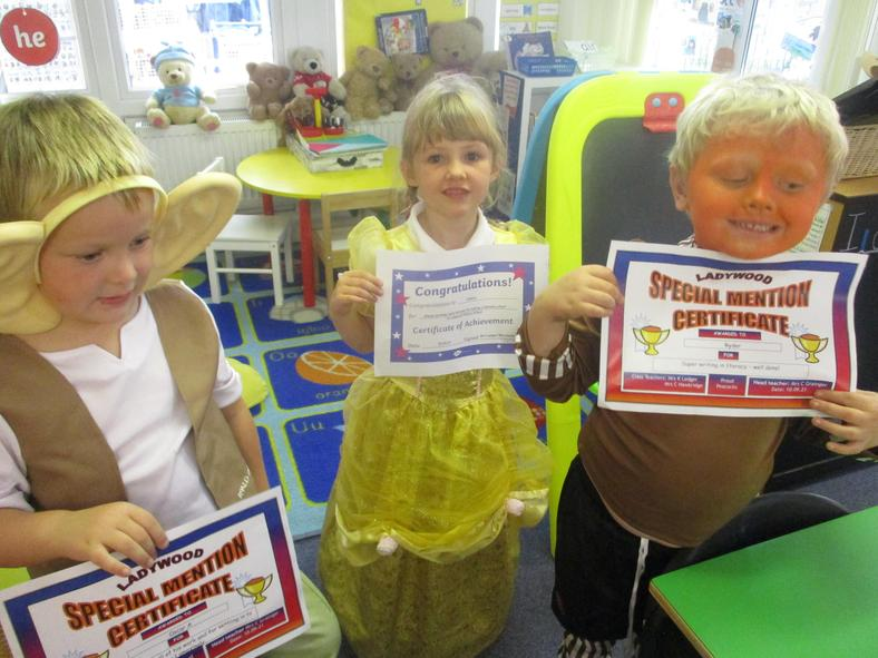 Well done to our special mention children and our always child this week!
