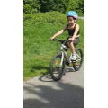 Leila has learnt to ride her bike - well done!