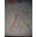 Leila's Jackson Pollock inspired painting.