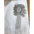 Oliver's sunflower drawing