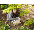 Oliver making his bug hotel