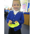 Amelia made an 'ai' snail with lots of 'ai' words on.