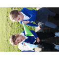 We went outside and read our oi words through our megaphones.