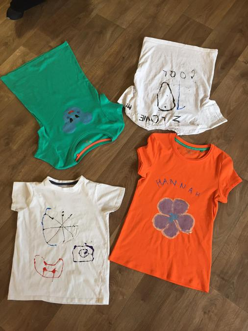 The children really enjoyed creating their tshirts