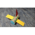 A very colourful plane made by Mary