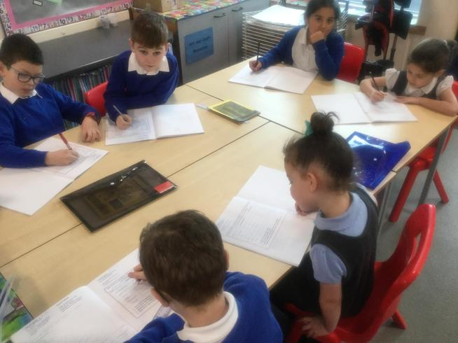 Discussing and writing our predictions