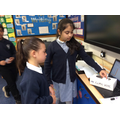 Lola and Laiba voting for Fantastic Fish