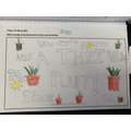 A poster identifying what a plant needs to thrive.