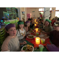 Investec staff serve KS2 Christmas dinner