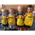 Aurigny gave us some great new bags for our Reception Maths travel bags!