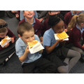 We all decided to enjoy some nice buttery toast!