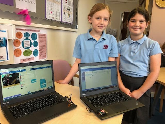 Y5 have learned how to code a Micro:bit.