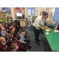 Mrs Hubbard decided to make some toast during the lesson!