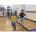 Soe great collaboration in our Indoor P.E.lesson