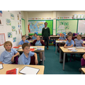 Pastor Matt visited Y5 to talk about what the Bible means to him