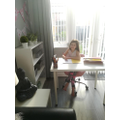 Hallie appears to have her own office!