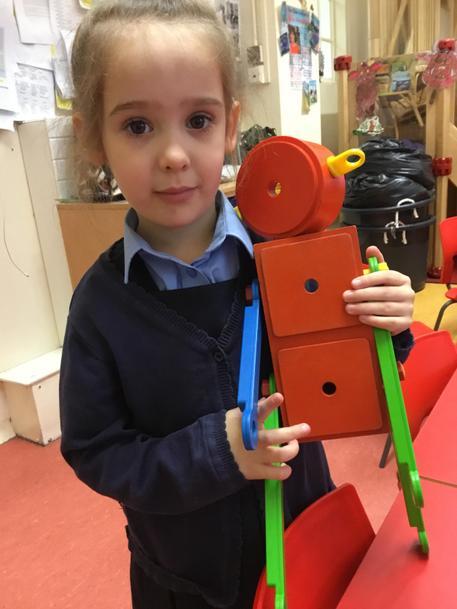 'I made a robot.'