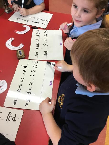 Beginning to record sentences