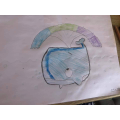 Amelia drew a whale.