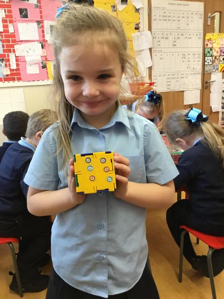 'I made a dice, this is a pattern of 6.'