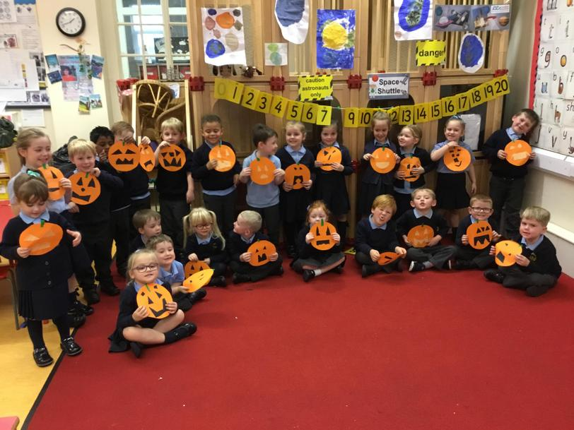 We made pumpkin faces too!