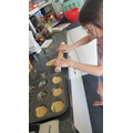 Faye was busy baking scones :)