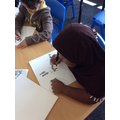 Mariama drawing patterns for 'sight' work!