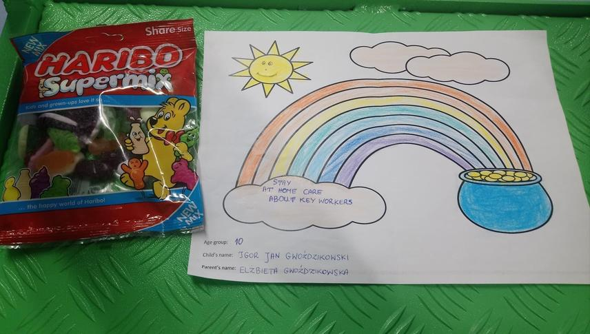 Igor won a colouring competition at his mum's work