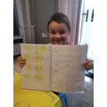 A very smiley Logan and his super Maths!