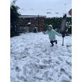 Elisa having a great time in the snow!