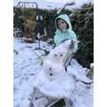 Elisa's snow man :)