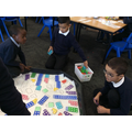 The boys making a city out of numicon!