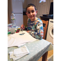 Adriano has been busy painting at home!