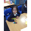 Avneet working on her life timeline!