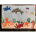Aleena's beautiful under the sea picture!