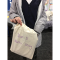 Valentyna was chosen to take the bag this week