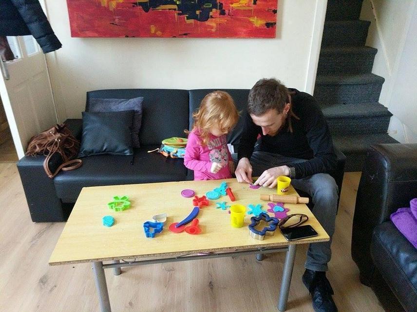 Lena with her nursery play bag