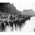 A parade outside Leeds Town Hall