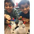 Indoor snowmen!