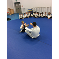 Caden demonstrating with the instructor!