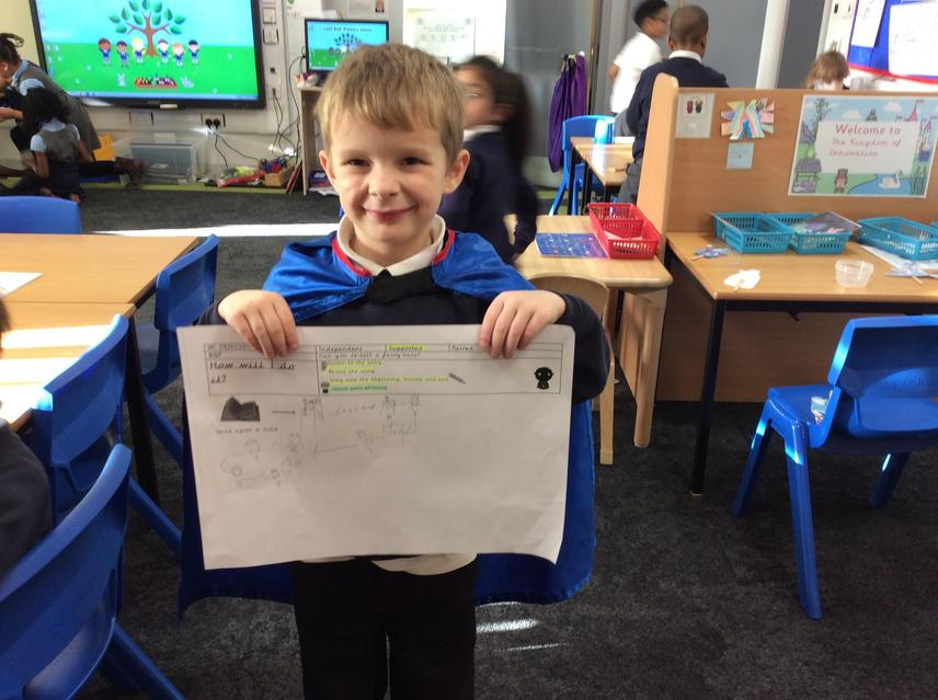 Tyler drew a fantastic story map!!