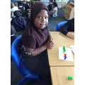 Mariama showing us her counting!