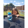 Faye made her own rain clouds in a jar!