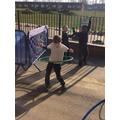 A hoop artist in the making!