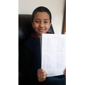 Aqib busy learning his timestables! Well done!
