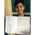 Danyaal has completed lots of spelling and maths