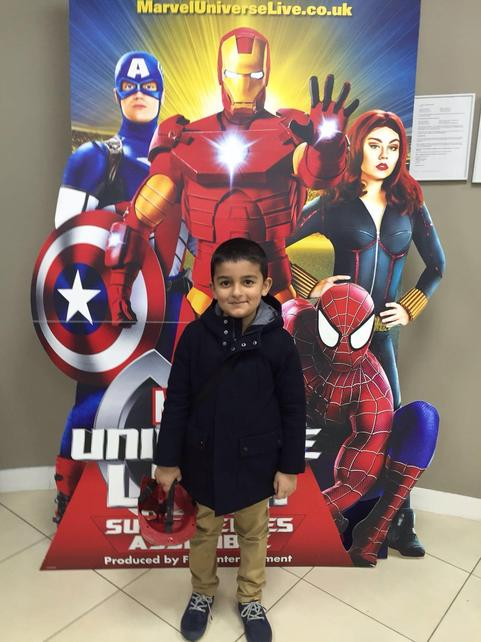 Aadam went to see the Avengers