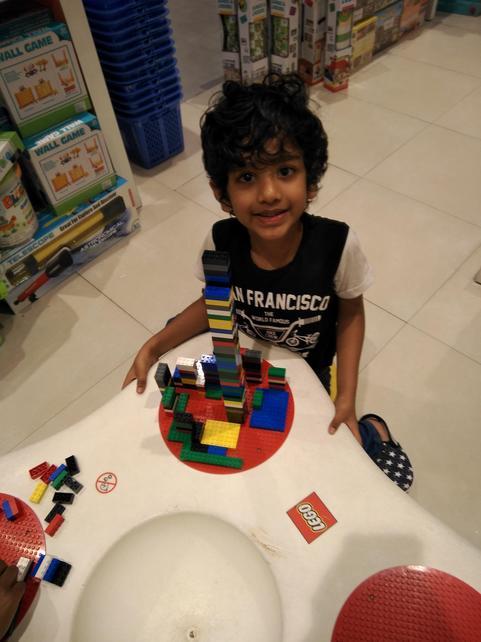 Samarth in his new school