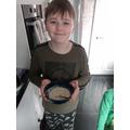 Jack made porridge for the three bears!